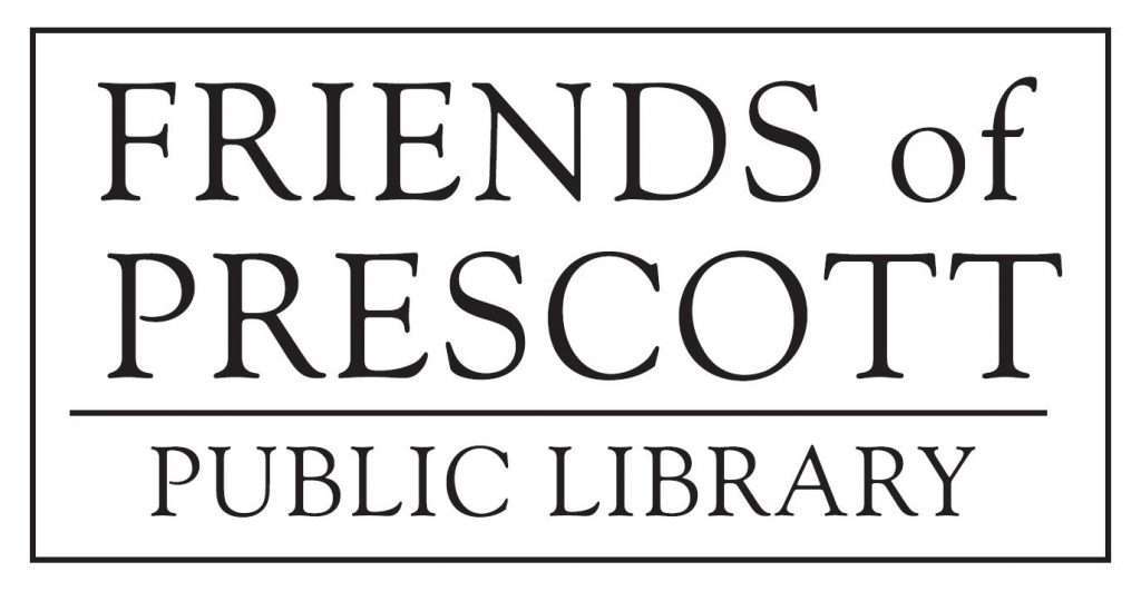 text-only logo with words Friends of the Prescott Public Library