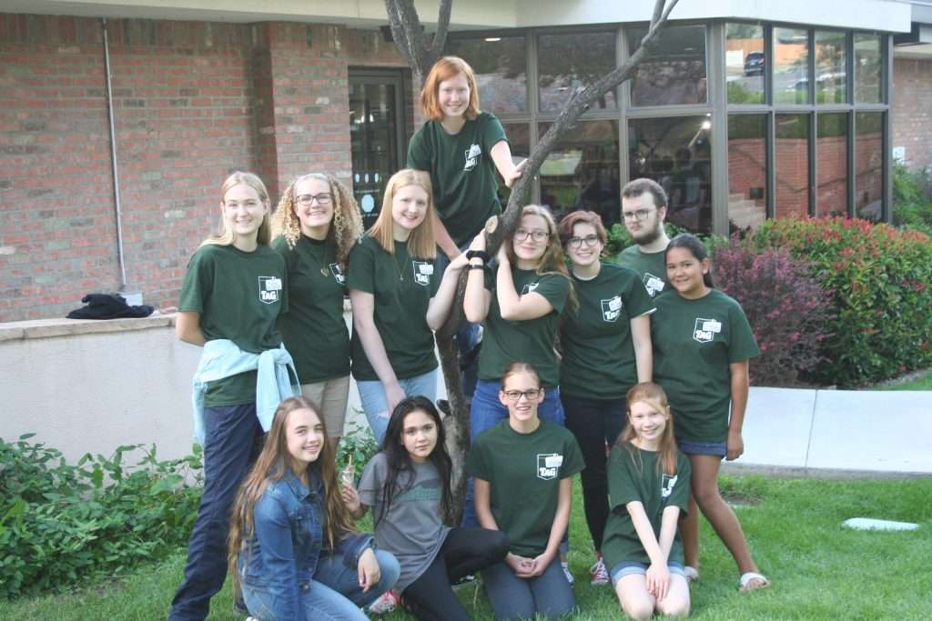 The twelve members of the library's 2019-2020 Teen Advisory Group